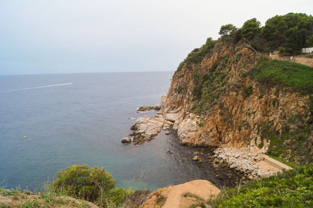 green vegetation: high rocky mountains with green vegetation on the coast