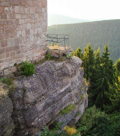 rock wall: on the rock wall