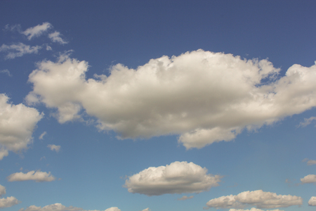 cumulus: white cumulus clouds Stock Photo