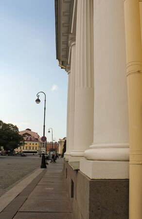 tourist spots: Columns of the building of the Russian Museum of Ethnography. St. Petersburg, Russia - 6 September, 2015. Excursion - tourist spots in St. Petersburg.