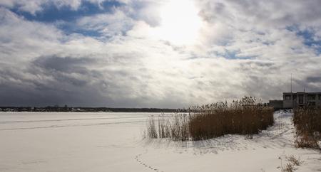 frozen river: Frozen River Volkhov.
