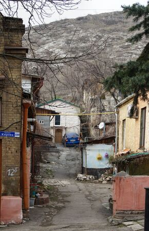 impasse: The impasse of the old city. Architecture and streets of the city of Kislovodsk. Stock Photo