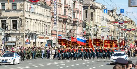 regiment: Start the action Immortal regiment. Holiday-action Immortal regiment taking place in St. Petersburg on Nevsky Prospect. Editorial