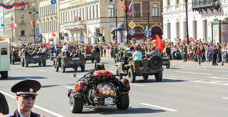 regiment: Automotive stocks in Immortal regiment. Holiday-action Immortal regiment taking place in St. Petersburg on Nevsky Prospect.