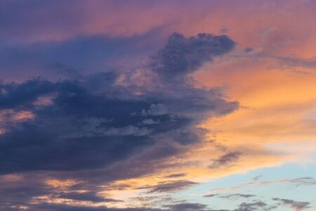 stratus: Stratus clouds in the sky. Stock Photo