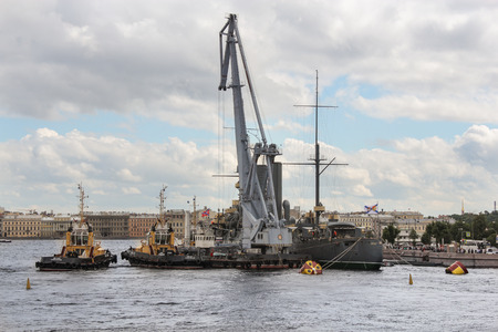 formulation: Work on the formulation of the legendary cruiser. Statement of the legendary cruiser Aurora on eternal parking place after repair.