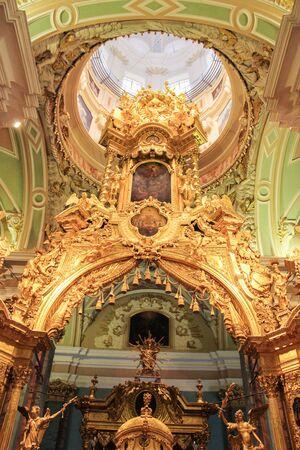 paul: The upper part of the iconostasis of gold. Visit the Peter-Paul Fortress in the framework of the cultural forum in St. Petersburg.