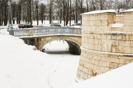 Icicles under the bridge. Visit the Gatchina Palace as part of a cultural forum in St. Petersburg.