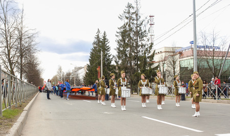 procession: Preparation and conduct of the action Immortal regiment in small cities of Russia. Editorial