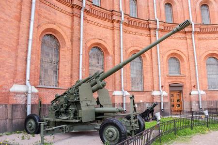 Anti-aircraft gun CS-19. Military History Museum of combat equipment in St. Petersburg Petersburg.