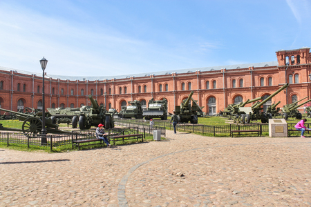 Open site of the military historical museum. Military History Museum of combat equipment in St. Petersburg Petersburg.