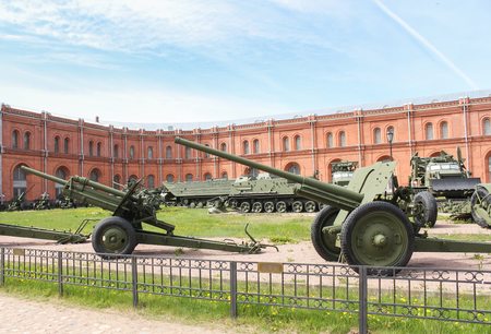 Cannons of the Great Patriotic War. Military History Museum of combat equipment in St. Petersburg Petersburg. Editorial
