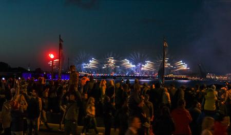 Festive night show of graduates of St. Petersburg Scarlet sails