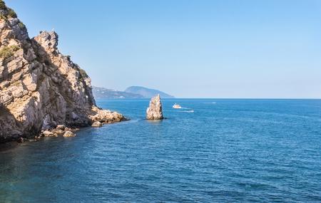Various types of coastline near the city of Yalta. Stock Photo