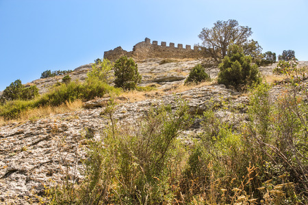 Genoese ancient fortress near the city of Sudak.