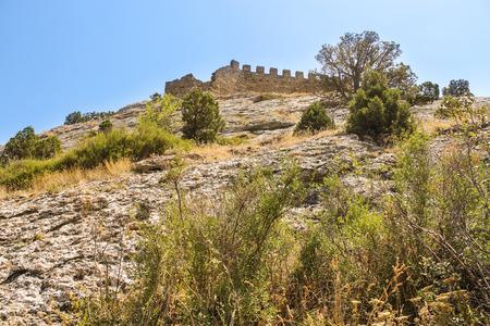 sudak: Genoese ancient fortress near the city of Sudak.