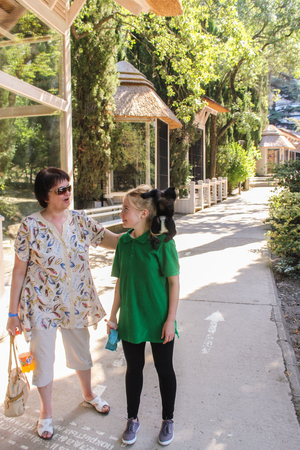 Zoo and animals on the territory of the hotel Yalta Intourist.