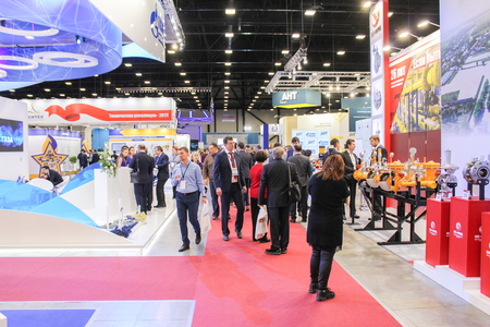Participants and visitors of the annual St. Petersburg Gas Forum. 新聞圖片