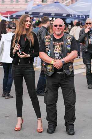 The annual Harley-Davidson Festival is held in the center of St. Petersburg. Editorial