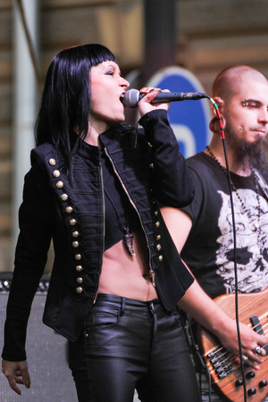 Music at the Harley-Davidson Festival in St. Petersburg.