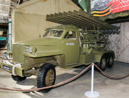 Automobiles and vehicles of the war years presented at the Lenrezerv exhibition.