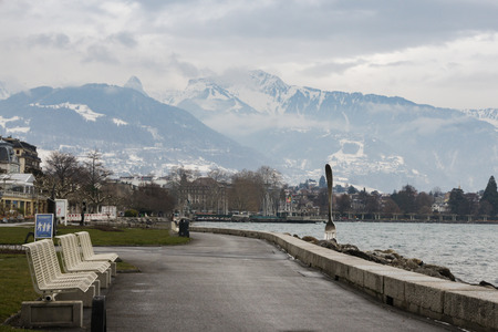 Views of the city of Vevey and its environs.