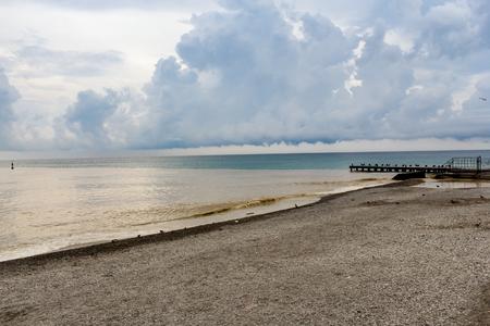 View of the main promenade of Yalta. 版權商用圖片