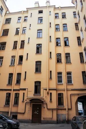 Houses, streets and views of the central part of non-excursion St. Petersburg.