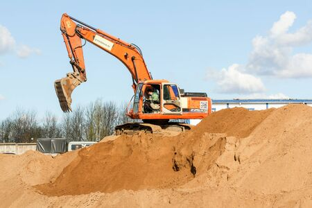 Start of construction of a motor bridge over the Volkhov River.