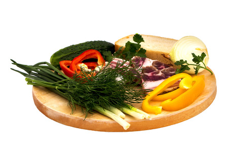 vegetable tray: Isolated Vegetable set on a tray on a white background.