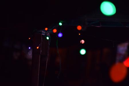 Abstract bokeh lights, defocused background