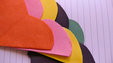 mulberry paper: art and craft paper flower and colorful texture and background Stock Photo