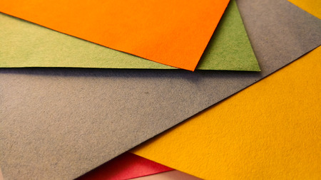 colorful Paper art  and craft background in craft style