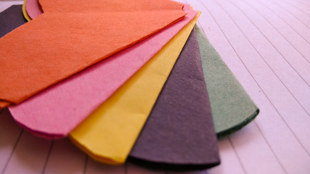art and craft paper flower and colorful texture and background Banque d'images