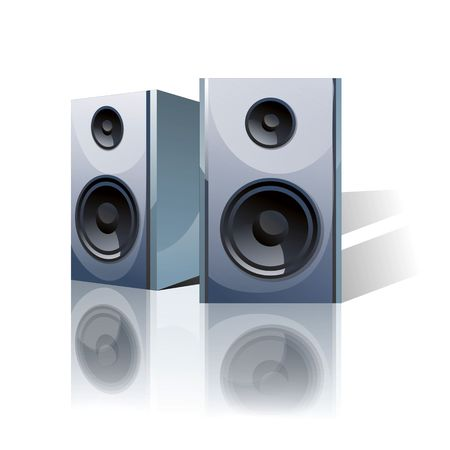 TEchnical image of speakers Stock Photo