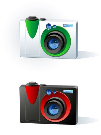 Image of a  modern colored photo camera