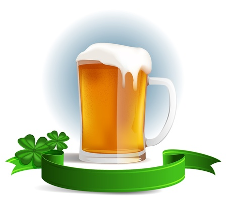 A glass of fine beer for St  Patrick Stock Vector - 16259709