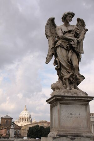 Statue of the Angel with whips on Ponte Sant Angelo