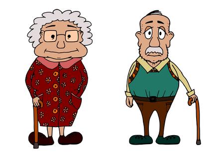 Cute grandma and grandpa