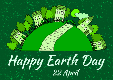earth day: Happy Earth day banner poster
