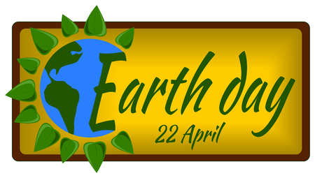 earth day: Earth day banner poster Illustration