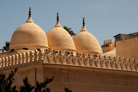 Domes of an old Alexandria mosque. Egypt photo