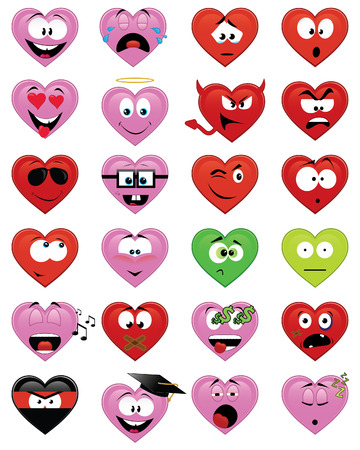 Heart-shaped smiles Stock Vector - 6344231
