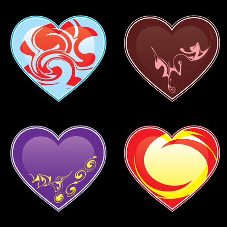 Hearts and ornaments