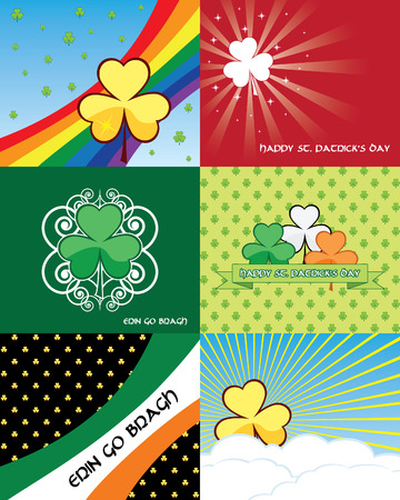 Set of St. Patricks day banners - illustrations