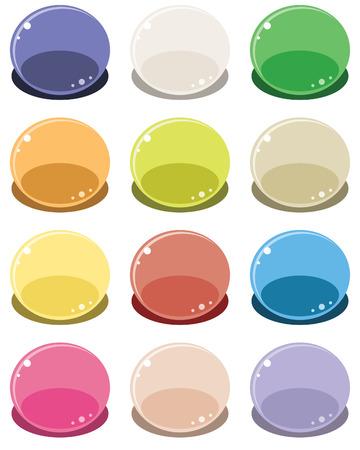 Set of bubbles - illustrations