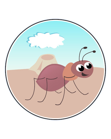 Funny Ant - funny illustration Vector