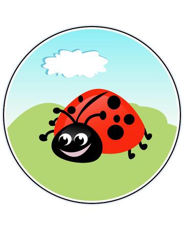 Ladybug - funny illustration Stock Vector - 8182500