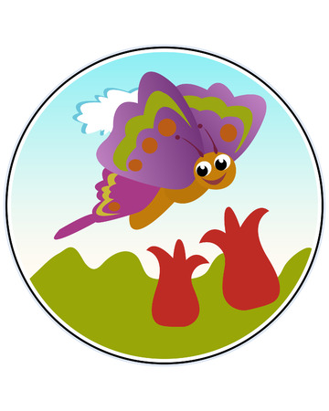 Butterfly - funny vector illustration Vector