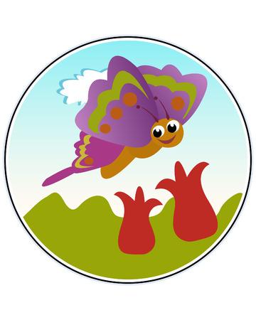 Butterfly - funny vector illustration Illustration